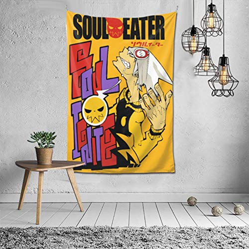 MikeyMillar Tapestry Large Wall Hanging Soul Eater Hippie Tapestry Multipurpose Tapestries Wall Art Home Decorations for Living Room Bedroom Dorm Decor 60X40inch