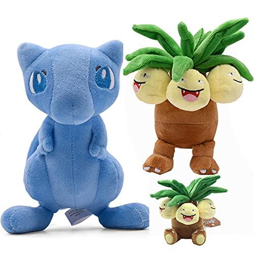 QIER 2 Piezas Pokemon Shiny Mew Exeggutor Peluches Anime Kawaii Muñecas Juguetes Regalo De Cumpleaños 15-18 Cm