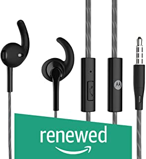(Renewed) Motorola Pace 130 Single Row Wired Earphones (Black)