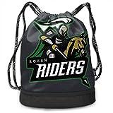 Rohan Riders Team Logo Drawstring Backpack Bulk Collection Simple Bundle Sport Gym Sack Cinch Bags