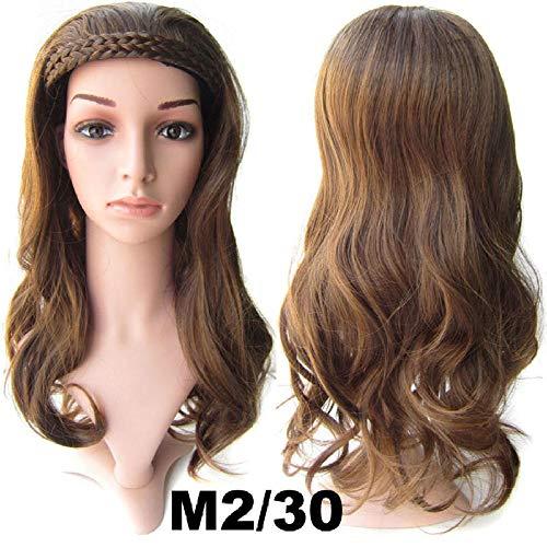 La perruque de fibre chimique de soie à hautes températures longue longue perruque de cheveux bouclés grande perruque de vague de perruque (M2 / 30)