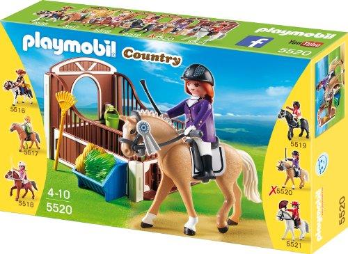 Playmobil 5520 - Warmblut mit weiß/brauner Pferdebox