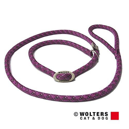 Wolters | Moxonleine Everest reflektierend in Fuchsia/Pflaume | L 180 cm x B 0,9 cm