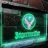 zusme Jagermeisters Deer Drink Bar Novelty LED Neon Sign White + Green W16 x H12