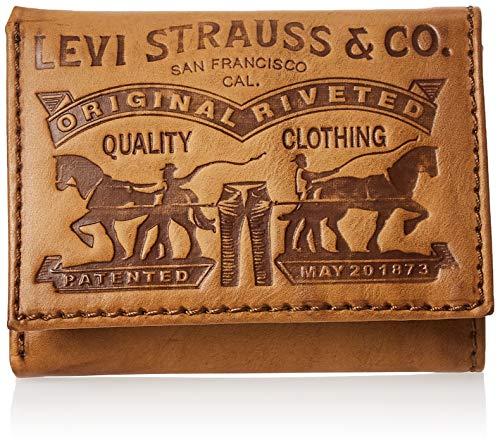 Levi's Men's Levis Trifold Wallet, Cognac, One Size