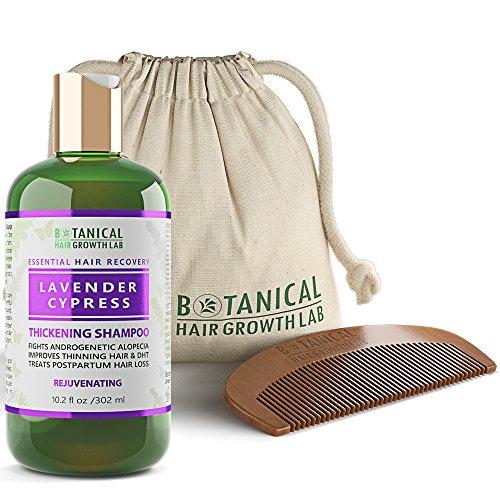 BOTANICAL HAIR GROWTH LAB - Hair Thickening Shampoo - Lavender Cypress - Essential Hair Recovery - Sensitive Scalp / Rejuvenating - For Hair Loss Prevention Alopecia Postpartum DHT Blocker - 10.2 Oz