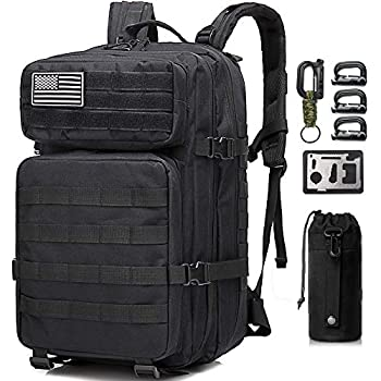 Monoki Military Tactical Backpack Army 3 Day Assault Pack,42L Molle Bag Rucksack