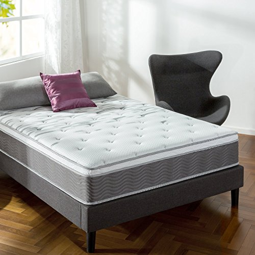 Zinus 12 Inch Support Plus Pocket Spring Hybrid Mattress with Euro Top / Extra Firm Feel / More Coils for Durable Support / Pocket Innersprings for Motion Isolation / Bed-in-a-Box, King