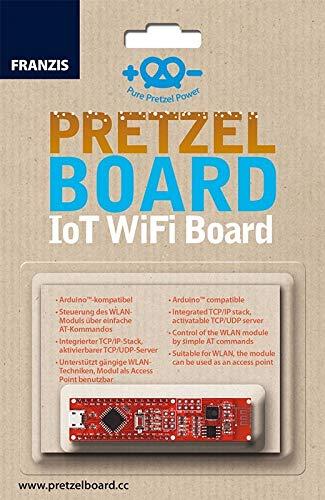 FRANZIS Pretzel Board: IoT WiFi Board | Arduino™-kompatibel | inkl. WLAN-Modul für eigenes Heimnetzwerk