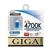 カーメイト 車用 ハロゲン ヘッドライト GIGA エアー H7 4700K 1000lm BD730