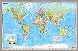 Weltkarte DEUTSCH Pinnwand aus Kork
