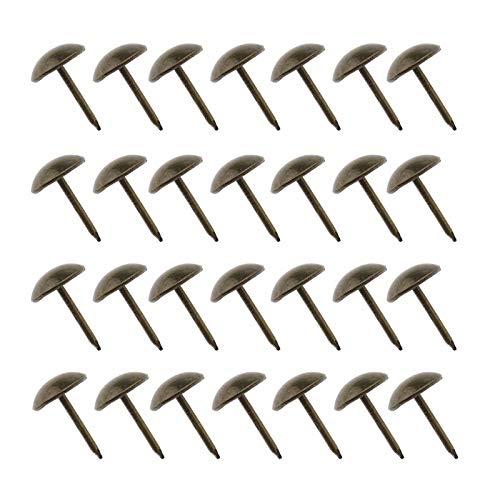 YINETTECH 200 runde Metallnägel mit Chrysanthemen-Kopf für Bretter, Holz, Kunsthandwerk, Sofa, Schmuckbox, Möbel, Stuhl, DIY