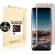 [2 Pack] Galaxy S8 Plus Screen Protector.DRGSDR Privacy Tempered Glass Anti - Spy. 3D Curved. Case Friendly. Screen Protector Shield for Samsung Galaxy S8 Plus. Transparent. Upgraded Version