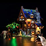 BRIKSMAX Led Lighting Kit for Medieval Blacksmith - Compatible with Lego 21325 Building Blocks Model- Not Include The Lego Set