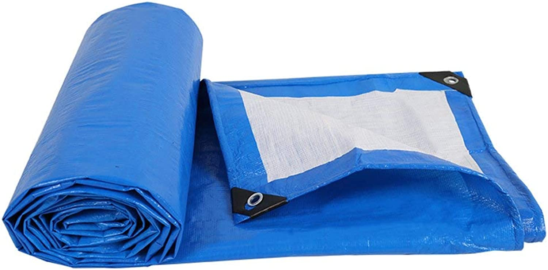 Waterproof Cloth Home Regenschutztuch Wasserdichte Plane gepolsterte Wasserdichte Poncho Poncho Poncho Isomatte Autoplanen Sonnencreme Anti-Korrosion, blau (Farbe   A, Größe   10 x 12m) B07NMH42T8  Angenehmes Aussehen 060ce1