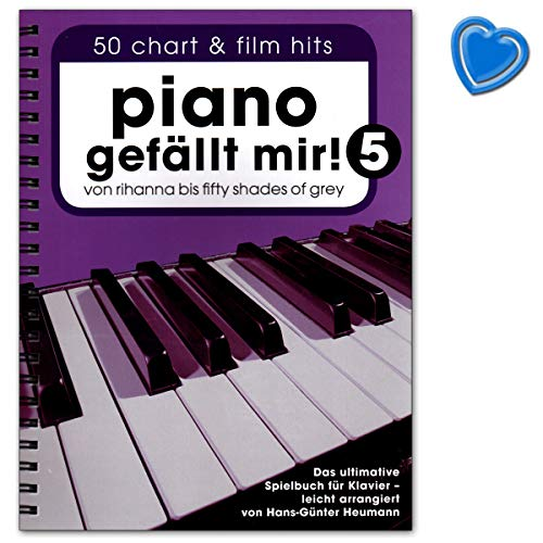 Piano gefällt mir! Band 5 (Spiralbindung) - ultimative Spielbuch für Klavier mit bunter herzförmiger Notenklammer - Bosworth BOE7794-9783865439000