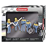 Carrera USA 20021132 21132 Figure Mechanics Realistic Scenery Accessory for Slot Car Race Track Sets, Blue