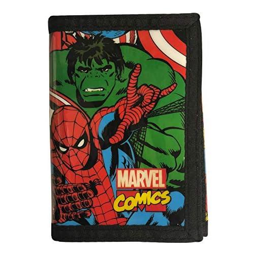 Marvel Comics Portafoglio pieghevole a tre ante, con porta carte di credito