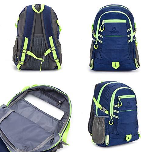 GS Blue High Visibility Bag Rucksack Daypack Wasserdicht Unisex Radrucksack – Hohe Sichtbarkeit, reflektierend, leicht, regenbeständig, Rucksack, 20 Liter, Blau