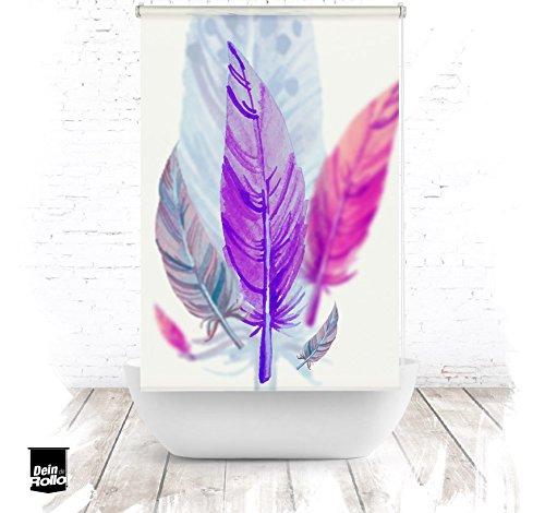 ERSATZ KLEINE Wolke Duschrollo für Leerkassette Feder lila Textil Badewanne