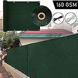 Balkon Sichtschutz Schutz Balkonkonturschutz Polyethylen 160 GGSM Temperaturbeständigkeit 30 ° C Bis + 60 ° C Außenterrasse Sonnenschutzscheibe 54 Größen Lsxiao (Color : Green, Size :...