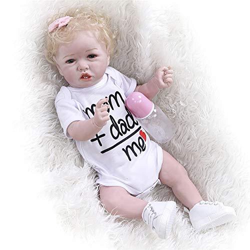 Zero Pam 55CM Lindo muñecas renacidas Cuerpo Completo de Silicona niña Bebe Reborn Toddler Realista Lavable muñecas recién Nacidas Boca magnética