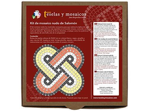 Kit de mosaico nudo de Salomón. 337 teselas cúbicas de 9mm de lado. Con todo lo necesario para fabricar el mosaico.
