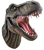 DWK - Jurassic King T-Rex Tyrannosaurus Rex Dinosaur Wall Mounted Head Statue Bust - 15 Inches Long…