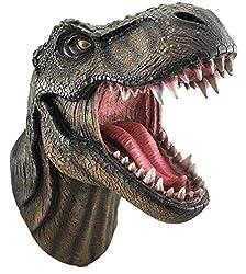 1. DWK Jurassic King T-Rex 15″ Dinosaur Wall Mounted Head Bust