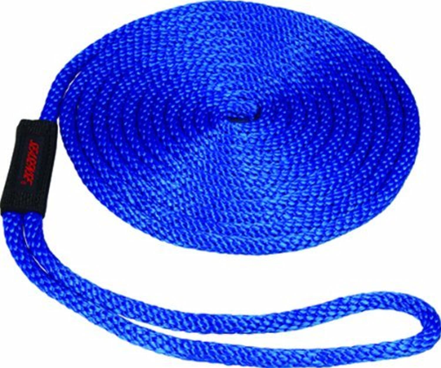 SeaSense Solid Braid MFP Dock Line with Chafe Guard, 1 2-Inch X 25-Foot, bluee by SeaSense
