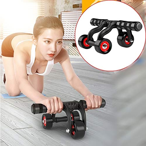 Buy Bargain GuiPing Three Wheels Abdominal Roller Round Home Office Outdoor Mute Fitness Equipment S...