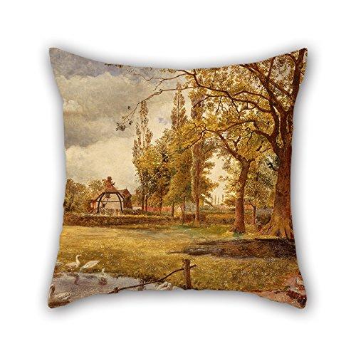 Bestseason - Taies d'oreiller 50 x 50 cm (deux côtés) - Choix idéal pour une chaise de pub ou un café - Peinture à l'huile William Davis - At Hale, Lancashire