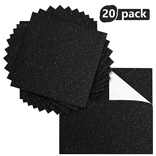 Ground Up Creations Premium 20 Sheets Glitter Cardstock 12