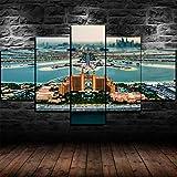 5 Piezas De Lienzo De Arte De Pared Palm Atlantis Dubai UAE Hotel Cuadro sobre Lienzo 5 Piezas Decoracion Pared Cuadro Cuadros Decoracion Salon Cuadros Decoracion Dormitorios
