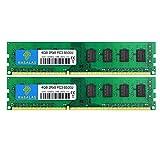 Rasalas 8GB DDR3 Kit (2x4GB) PC3-8500 DDR3 1066 Mhz DDR3 8GB Udimm DDR3 Ram 2Rx8 1.5V CL7 Desktop Comuter Ram Memory Modules Upgrade