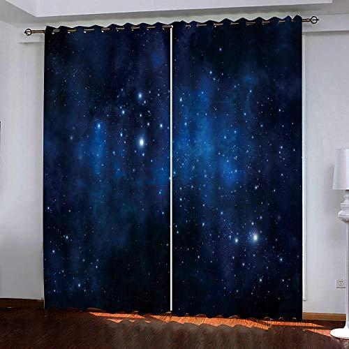 cortinas salon modernas 2 piezas opacas 3d