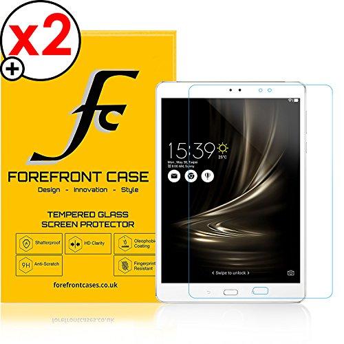 Forefront Hülles® [HD KLARHEIT] Gehärtetes Glas Display Schutz Protektor Folie für ASUS ZenPad 3S 10 Z500M [Ultra DÜNN nur 0.3mm] - 2ER Pack