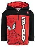 Marvel Spiderman Toddler Boys Fleece Half-Zip Pullover Hoodie Red/Black 5T