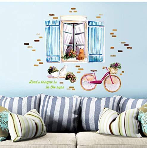 Sticker Decals behang vensterbank kat bank slaapkamer ingang bed tv muur achtergrond decoratieve muur stickers