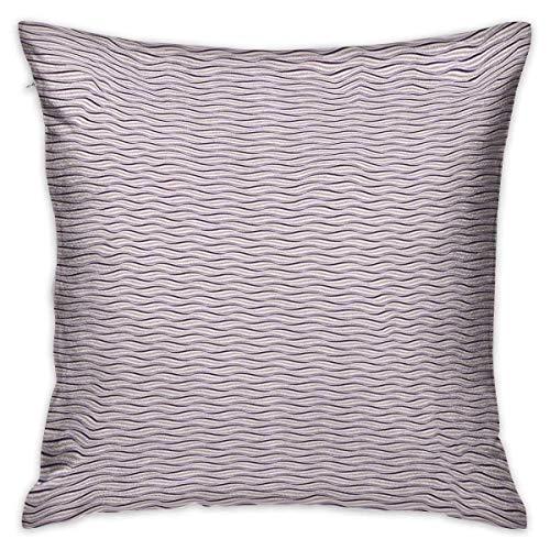 Berenjena - Funda de almohada personalizada con forma de círculo, borde redondo, imagen de ola de mar en tonos morados, rosa pálido, morado y lila, fundas de cojín, fundas de almohada para sofá, dormi