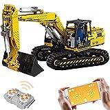 NFtop Technic Escavatore Gigante con Telecomando Compatibile con Lego Escavatore - 1830 Pezzi