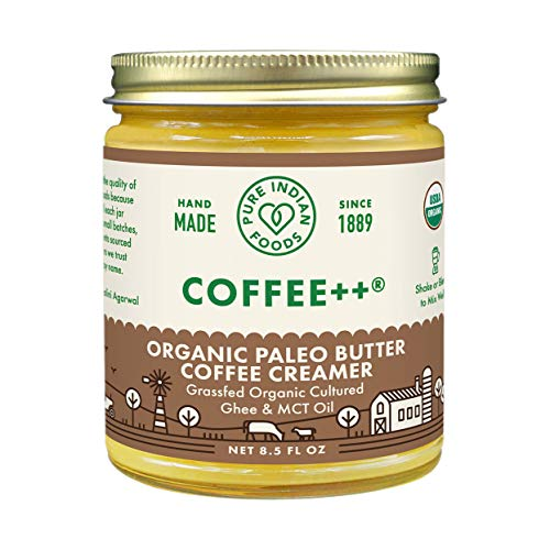 Coffee++ Paleo Butter Coffee Creamer 8.5 fl oz, Certified Organic, Pasture Raised, Lactose Free, Gluten-Free, Non-GMO, Paleo, Keto-Friendly, Batch Tested for Casein and Whey