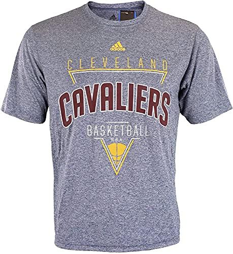 adidas NBA - Camiseta de poliéster para hombre, diseño gráfico de Rush, equipo y opciones de color, Atlético, S, Cleveland Cavaliers- azul marino #2
