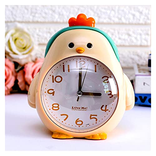 OUMYLFCNEC Despertador Reloj de Alarma para niños Estudiantes creativos con Personalidad Linda Persona Perezosa Especial Luminoso Siluminoso Reloj Despertador Muchacho Radios Reloj