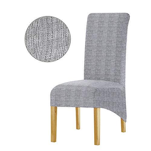 Leorate Funda elástica para silla de comedor, tipo hotel, tamaño grande, tela estampada, paquetes de 2, 3, 4 y 6 piezas, (color-238), Paquete con 2