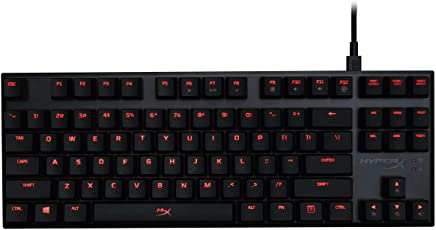 HyperX Alloy FPS Pro - Tenkeyless Mechanical Gaming Keyboard - 87-Key, Ultra-Compact Form Factor - Linear & Quiet - Cherry MX Red - Red LED Backlit (HX-KB4RD1-US/R1)