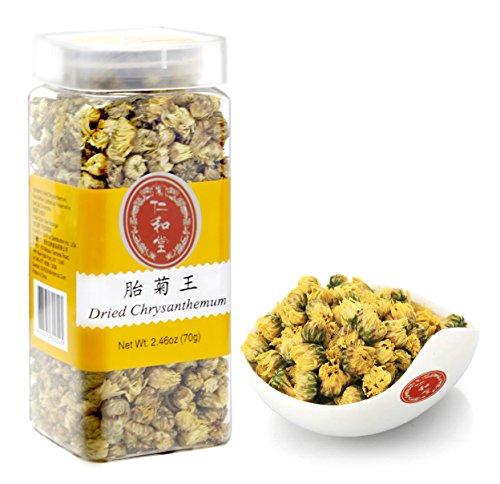 Ren He Tang Dried Chrysanthemum Tea, Tai Ju - Chinese Tea - Herbal - Flower Tea - Decaffeinated - Loose Leaf Tea 2.46 OZ (70g)