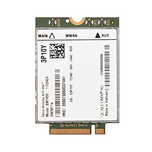 Price comparison product image EM7455 Replacement Wireless 4G LTE WWAN NGFF Card Module for Dell Latitude,  300 Mbps Max Download Speed