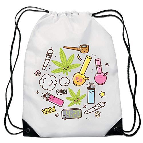 420 Weed Lighter Joint Pipe Fun Drawstring Bag