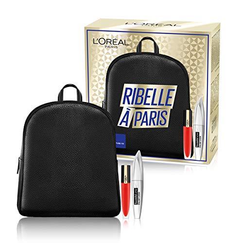 L'Oréal Paris Idea Regalo Donna Natale 2020, Zainetto con Mascara Incurvante Bambi Eye e Rossetto Liquido Rouge Signature, 113 I Don't